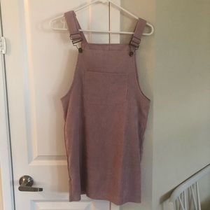 Mauve/pink color overalls size small